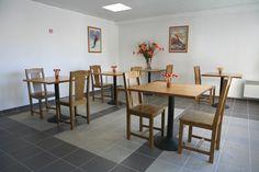 Vision sur la salle des petits déjeuners de la résidence Mona Lisa - le Pra Palier, à Orcières