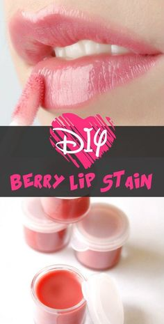 Here is the recipe to prepare your own chemical-free berry lip stain at home. It's very easy to prepare, and you will for sure love its color and flavor.