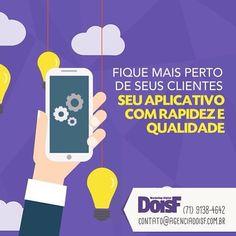 Você sabia que também criamos aplicativo? Se estiver precisando de uma ajuda não perca tempo e contate-nos!  #agenciadoisf  #doisf  #marketing  #digital  #mktdigital  #seo  #socialmedia  #midiassociais  #redessociais  #online  #instapic  #instagram  #facebook by agenciadoisf