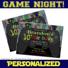 Gamer Gaming Birthday Party Printable Birthday by M2MPartyDesigns, $10.00