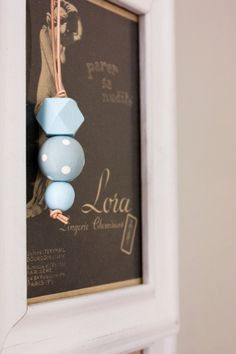 collana pois blu pastello collana blu chiaro di erikaintheclouds/lightblue polka dots necklace