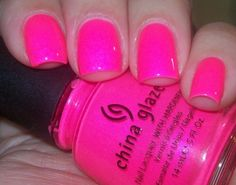 Looking for ridiculously neon pink nail polish! : image Looking for ridiculously neon pink nail polish! Neon Pink Nail Polish, Pink Toe Nails, Bright Nails, Get Nails, Nail Polish Colors, How To Do Nails, Hair And Nails, Polish Nails, New Nail Colors