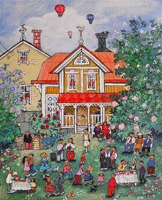 Garden party by Marit Björnegran