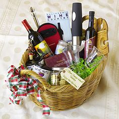 +pib  The Ultimate Gift Basket Guide  | Wine Lover's Basket | MyRecipes.com