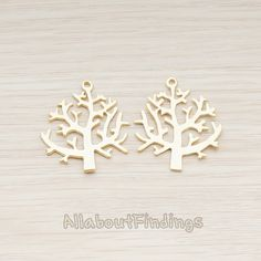 PDT515-MG // Matte Gold Plated Winter Tree by AllaboutFindings