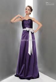 purple bridesmaid dresses with a silver sash - Google Search