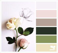 flora palette // via design seeds Colour Pallette, Colour Schemes, Color Combos, Color Patterns, Inspiration Design, Design Seeds, World Of Color, Do It Yourself Home, Color Swatches