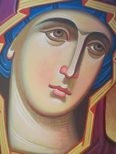 Virgin Mary Art, Married With Children, Hail Mary, Retro Pattern, Believe In God, Christmas Nativity, Orthodox Icons, Christian Art, Religious Art