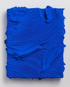 Love this! The thick, overwhelming blue is so rich and attractive to the eye. Simple and complicated all at the same time.