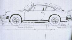 Porsche 1975 930 drawings