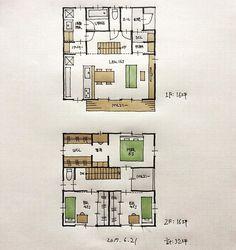 『32坪の間取り』 ・ 1階は前回とほぼ同じ間取り。 階段の向きを変えています。 2階は各部屋を広めにしました。 ・ #間取り#間取り集 #間取り図 #間取り相談 #間取り図大好き #間取り図好き #間取り考え中 ##三重の家 #三重の住宅 #三重の建築家 #三重の間取り #三重の設計事務所 ##マイホーム計画 #マイホーム計画三重 #マイホーム計画開始 #32坪の間取り#コンパクトハウス#小住宅#住まい