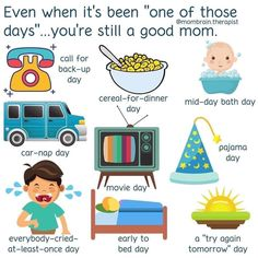 """I think all of us have had """"one of those days"""" lately, or maybe two, or three, or ten! No need to strive for perfection. Give yourself a break. Your kids will probably enjoy it too! Nap Day, Feeling Burnt Out, Complex Ptsd, Dad Humor, Parenting Humor, Survival Tips, Try Again, Children, Kids"""