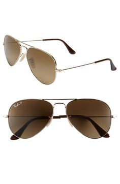 Ray Ban Polarized Aviator Sunglasses--got these and love them! Very light weight to wear!