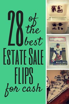 These estate sale finds are worth money! http://estatesales.org/thegoods/28-of-the-best-estate-sale-flips