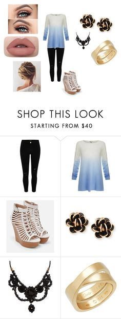 """Untitled #100"" by hannahnicole61002 on Polyvore featuring River Island, Joie, JustFab, Chantecler and Gucci"