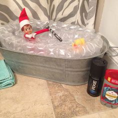 Elf on the shelf Bath time fUn for ouR eLf!