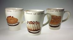 Set of 3 and Solids Dutch Design Collection Coffee Cups Mugs Ceramic #DutchDesignCollectionSolids