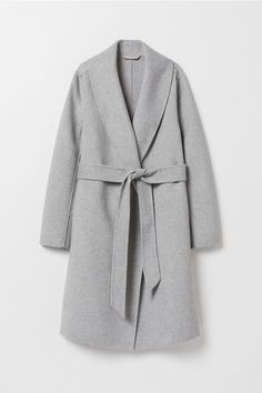 9e3e0ad38261 Wool-blend coat - Light gray melange - Ladies | H&M US 5 H M Outfits