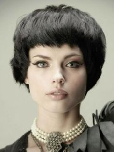 Short fringe blunt bob. love it