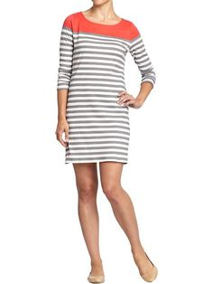 Old Navy | Women's Striped Color-Block Jersey Dresses