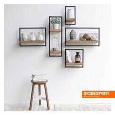 Îmbină creativ piesele de mobilier și amenajează-ți un living exact pe gustul tău. #puzzle #living #polita