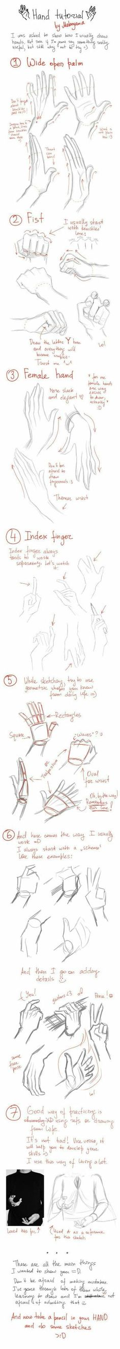 Hand Tutorial, text, hands; How to Draw Manga/Anime by Maiden11976