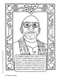Garrett morgan coloring sheet inventor of the traffic for Black inventors coloring pages