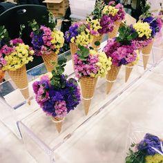 フラワーコーンって知ってる?♡アイスクリームみたいなブーケが可愛すぎる♡にて紹介している画像