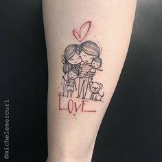 Family tattoo by michele mercuri mom tattoos, little tattoos, dream tattoos, Mama Tattoos, Mother Tattoos, Family Tattoos, Tattoos For Kids, Tattoos For Daughters, Little Tattoos, Couple Tattoos, Tattoos For Women, Family Tattoo Designs