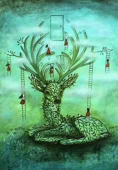 Deer to dream by Amanda  Cass