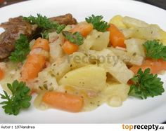 Kedlubny, mrkev, brambory dušené s majoránkovou omáčkou No Salt Recipes, Thai Red Curry, Potato Salad, Mashed Potatoes, Good Food, Ethnic Recipes, Diet, Whipped Potatoes, Smash Potatoes