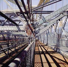 Monday morning inspiration, Williamsburg Bridge by Richard Estes #photorealism #painting