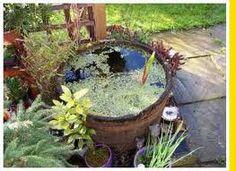pond in a barrel garden pinterest gardens and garden ponds