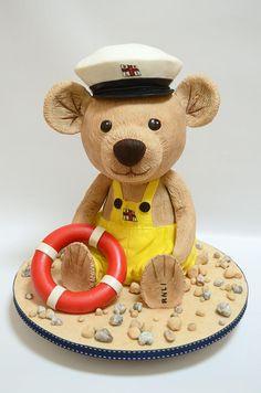 Alfie the RNLI teddy bear - Cake by The Chain Lane Cake Co.
