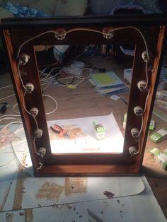 Сделал гримерное зеркало своими руками Своими руками, самоделки, зеркало, макияж, дерево, длиннопост