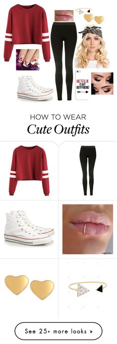"""""""Cute Outfit"""" by kregi800 on Polyvore featuring Topshop, Converse, Casetify, T Tahari and bae"""