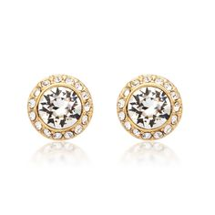 MYJS Angelic Earrings with Swarovski® Crystals Gold Plated