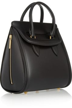 There's something so appealing about the black matte-leather and structured shape.