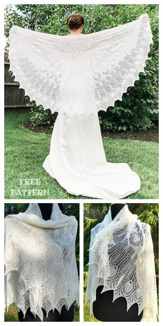 Easy Sweater Knitting Patterns, Shawl Patterns, Lace Knitting, Knit Crochet, Finger Knitting, Knit Cowl, Hand Crochet, Knitting Tutorials, Crochet Granny