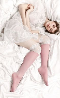 Pretty bridal hosiery from Sockbox. I love the dreamy bird's eye view photos.