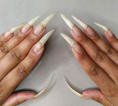 Long Stiletto Nails, Long Nails, Long Natural Nails, Makeup Looks, Stilettos, Beds, Instagram, Amazing, Natural Nails
