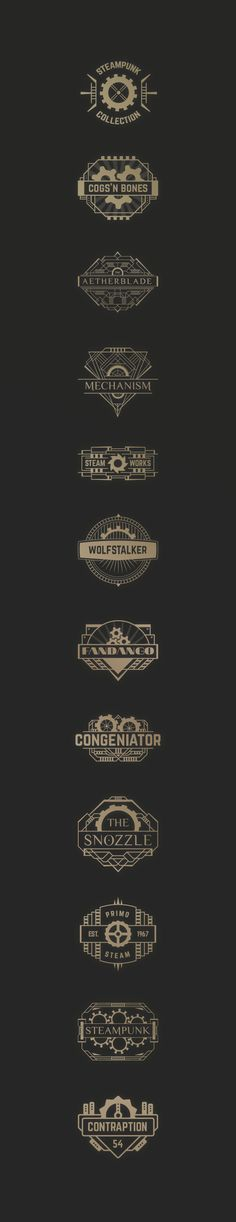 Steampunk Badges on Behance