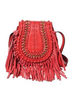 Aimee Kestenberg  Genny Saddle Crossbody - Rouge Red - One Size