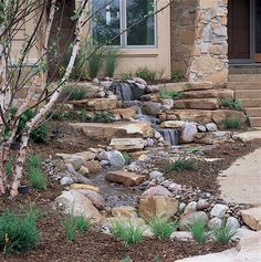 A Pondless Watefall is basically a waterfall without a pond, and is sure to make your home stand out from all the others when you place it near the entry to your home!