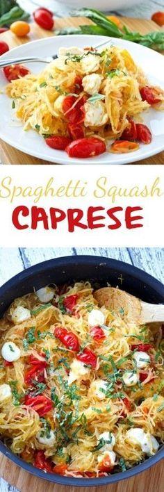 Spaghetti Squash Caprese Pin #Spaghetti