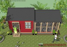 CB201 - Combo Plans - Chicken Coop Plans Construction + Garden Sheds Plans - Storage Sheds Plans Construction           CB201 - Combo Plans ...