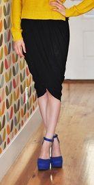 Tutorial: Draped wrap tulip skirt · Sewing