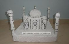 How to make a paper mache model / sculpture of Taj Mahal for kids school projects