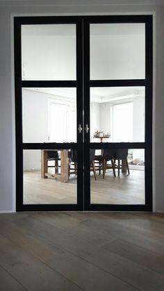 Industrieel, industriële look, staallook,  stalen binnendeuren, design binnendeuren, trend deuren