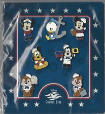 Disney Pin Booster Set - DCL - 7 Mini Cuties Characters Sailors - Cruise Line Disney Pins Sets, Disney Trading Pins, Cute Characters, Disney Characters, Chip And Dale, Corpse Bride, Cool Pins, Pin And Patches, Coraline